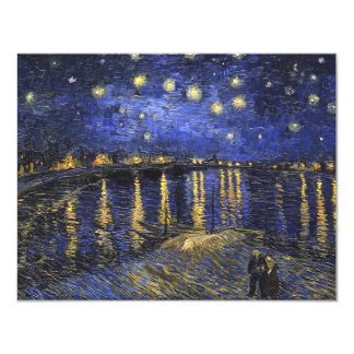 Vincent Van Gogh Starry Night Over The Rhone 11 Cm X 14 Cm Invitation Card