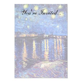 Vincent Van Gogh - Starry Night Over The Rhone 13 Cm X 18 Cm Invitation Card