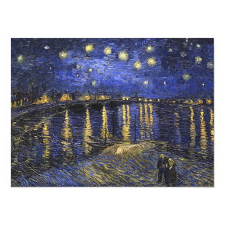 Vincent Van Gogh Starry Night Over The Rhone 14 Cm X 19 Cm Invitation Card