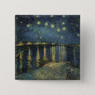 Vincent van Gogh | Starry Night Over the Rhone 15 Cm Square Badge
