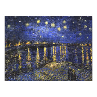 Vincent Van Gogh Starry Night Over The Rhone 17 Cm X 22 Cm Invitation Card