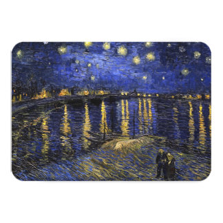 Vincent Van Gogh Starry Night Over The Rhone 9 Cm X 13 Cm Invitation Card