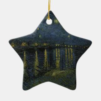 Vincent Van Gogh Starry Night Over the Rhone Art Christmas Ornament