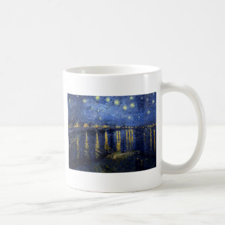 Vincent Van Gogh Starry Night Over the Rhone Gifts Basic White Mug