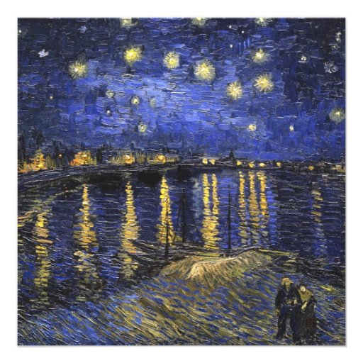 Vincent Van Gogh Starry Night Over The Rhone Personalized Announcement