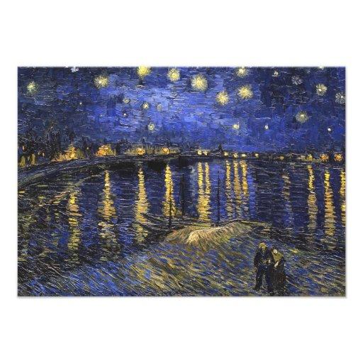 Vincent Van Gogh Starry Night Over The Rhone Custom Invitation