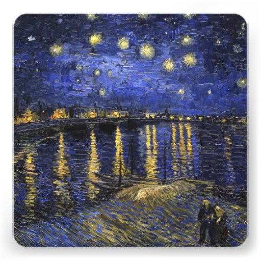 Vincent Van Gogh Starry Night Over The Rhone Invitations