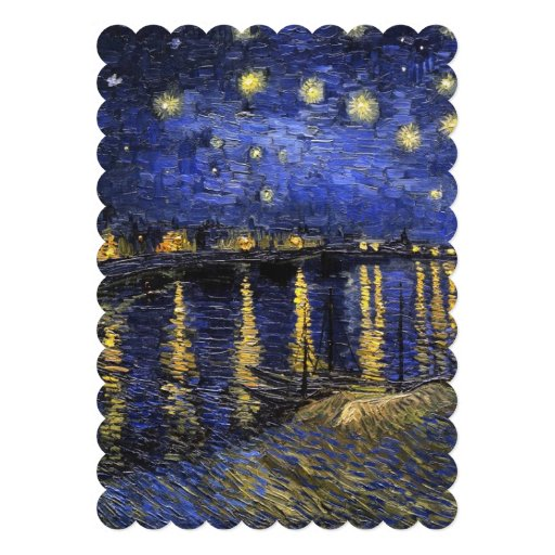 Vincent Van Gogh Starry Night Over The Rhone Invites