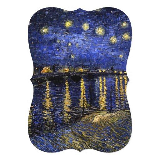Vincent Van Gogh Starry Night Over The Rhone Custom Invite