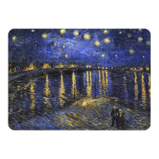 Vincent Van Gogh Starry Night Over The Rhone 5x7 Paper Invitation Card