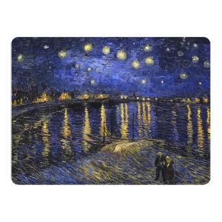 Vincent Van Gogh Starry Night Over The Rhone 17 Cm X 22 Cm Invitation Card