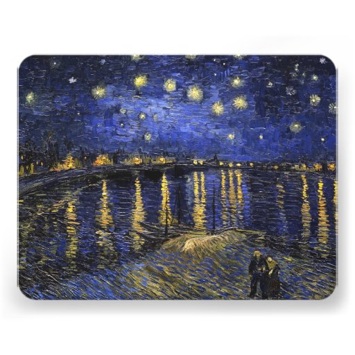 Vincent Van Gogh Starry Night Over The Rhone Invite