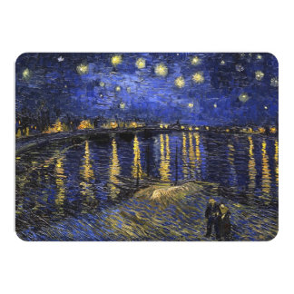 Vincent Van Gogh Starry Night Over The Rhone 11 Cm X 16 Cm Invitation Card