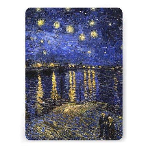 Vincent Van Gogh Starry Night Over The Rhone Invitation