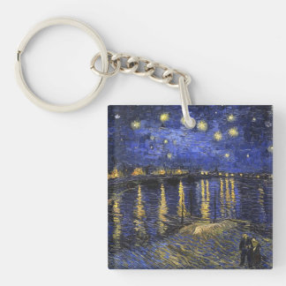 Vincent Van Gogh Starry Night Over The Rhone Key Ring