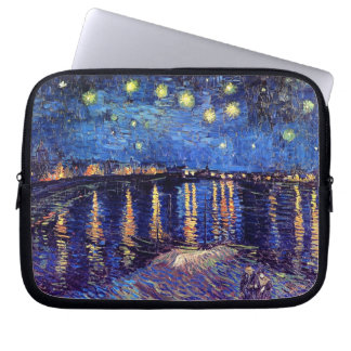 Vincent Van Gogh - Starry Night Over The Rhone Laptop Sleeve