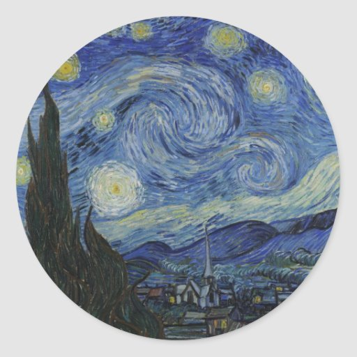 Vincent Van Gogh Starry Night Over The Rhone Paint Stickers