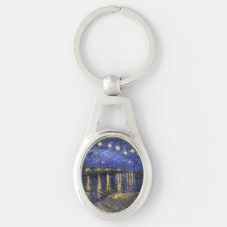 Vincent Van Gogh Starry Night Over The Rhone Keychains