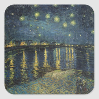 Vincent van Gogh | Starry Night Over the Rhone Square Sticker