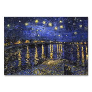 Vincent Van Gogh Starry Night Over The Rhone Table Cards