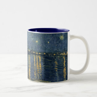 Vincent van Gogh | Starry Night Over the Rhone Two-Tone Coffee Mug