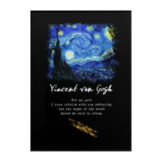 Vincent Van Gogh. Starry Night Painting Poem Art