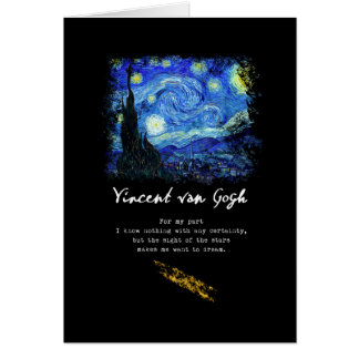 Vincent Van Gogh. Starry Night Painting Poem Art Card