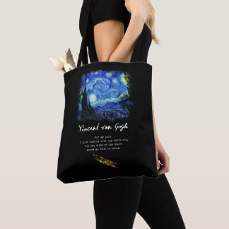 Vincent Van Gogh. Starry Night Painting Poem Art Tote Bag