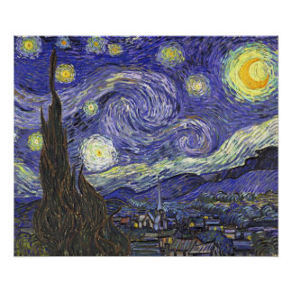 Vincent van Gogh Starry Night, Post Impressionism Poster
