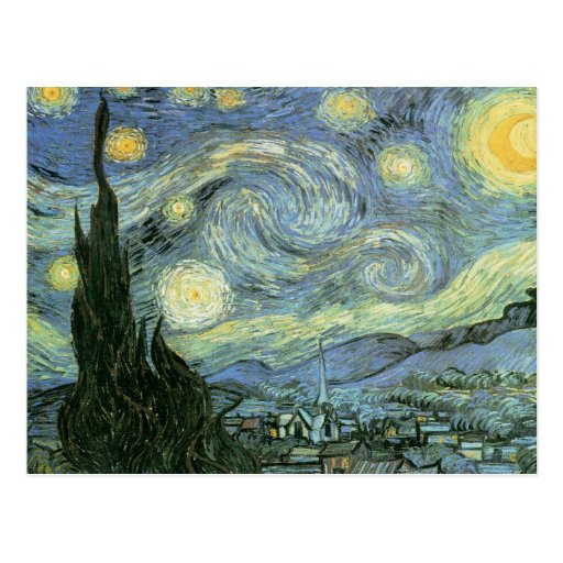 Vincent Van Gogh - Starry Night Post Cards