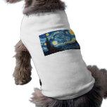 Vincent Van Gogh - Starry Night Sleeveless Dog Shirt