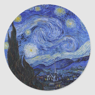 "Vincent Van Gogh ""Starry Night"" Stickers"