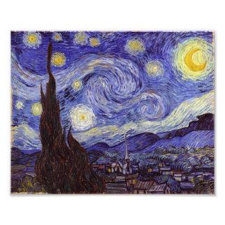Vincent Van Gogh Starry Night Vintage Fine Art Art Photo