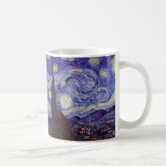 Vincent Van Gogh Starry Night Vintage Fine Art Basic White Mug