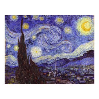 Vincent Van Gogh Starry Night Vintage Fine Art 21.5 Cm X 28 Cm Flyer