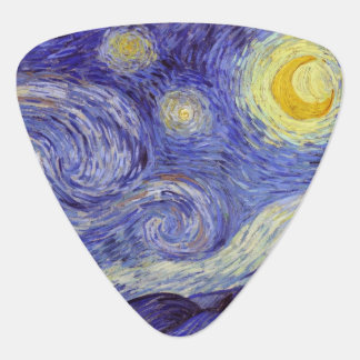 Vincent Van Gogh Starry Night Vintage Fine Art Plectrum
