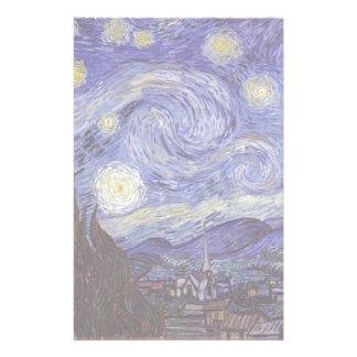 Vincent Van Gogh Starry Night Vintage Fine Art Stationery