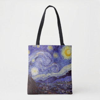 Vincent Van Gogh Starry Night Vintage Fine Art Tote Bag