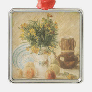 Vincent van Gogh | Still Life, 1887 Silver-Colored Square Decoration