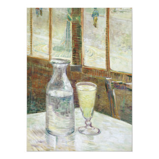 Vincent Van Gogh Still Life With Absinthe Fine Art 14 Cm X 19 Cm Invitation Card
