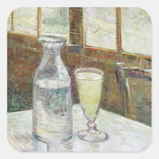 Vincent Van Gogh Still Life With Absinthe Fine Art Square Sticker