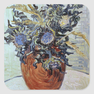 Vincent van Gogh | Still Life with Thistles, 1890 Square Sticker