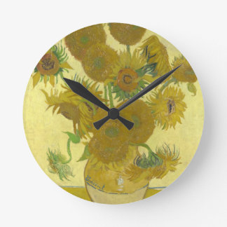 Vincent van Gogh Sunflowers 1888 Flowers Painting Round Clock