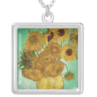 Vincent van Gogh | Sunflowers, 1888 Silver Plated Necklace