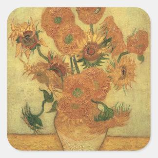 Vincent van Gogh | Sunflowers, 1889 Square Sticker