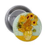 Vincent Van Gogh Sunflowers Buttons
