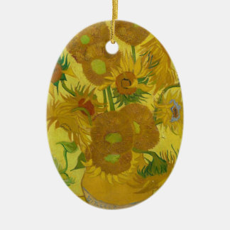 Vincent Van Gogh Sunflowers - Classic Art Floral Ceramic Oval Decoration