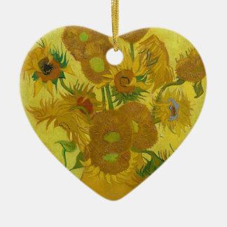 Vincent Van Gogh Sunflowers - Classic Art Floral Christmas Ornament
