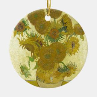 Vincent Van Gogh - Sunflowers - Classic Painting Christmas Ornament