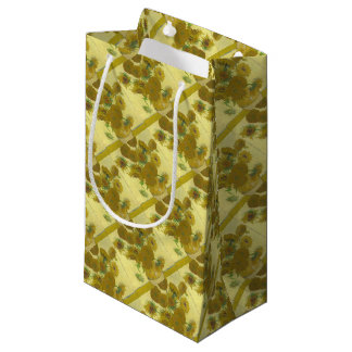 Vincent Van Gogh - Sunflowers - Classic Painting Small Gift Bag